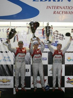 P1 podium: overall winners Rinaldo Capello, Allan McNish and Tom Kristensen