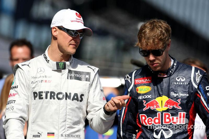 Феттель выиграл 14% своих гонок за Ferrari. По этому показателю его опережают Шумахер (39,8%), Аскари (43,3%), Хуан Мануэль Фанхио (30%), Тони Брукс (28,6%), Лауда (25,9%) и Карлос Рейтеман (14,7%)