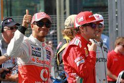 Lewis Hamilton, McLaren Mercedes ve Fernando Alonso, Scuderia Ferrari