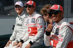 Michael Schumacher, Mercedes GP ve Jenson Button, McLaren Mercedes, Sebastian Vettel, Red Bull Racin