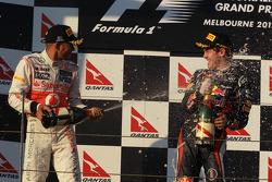 Lewis Hamilton, McLaren Mercedes et Sebastian Vettel, Red Bull Racing