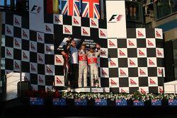 Sebastian Vettel, Red Bull Racing ve Jenson Button, McLaren Mercedes ve Lewis Hamilton, McLaren Merc