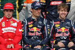 Fernando Alonso, Scuderia Ferrari, Mark Webber, Red Bull Racing ve Sebastian Vettel, Red Bull Racing