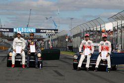 Michael Schumacher, Mercedes GP, Sebastian Vettel, Red Bull Racing, Jenson Button, McLaren Mercedes
