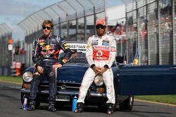 Sebastian Vettel, Red Bull Racing ve Lewis Hamilton, McLaren Mercedes