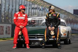 Fernando Alonso, Scuderia Ferrari ve Kimi Raikkonen, Lotus F1 Team