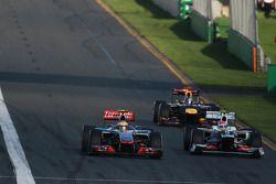 Lewis Hamilton, McLaren Mercedes y Sergio Pérez, Sauber F1 Team