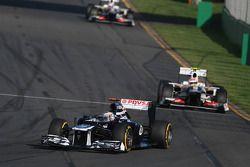 Pastor Maldonado, Williams F1 Team y Sergio Pérez, Sauber F1 Team