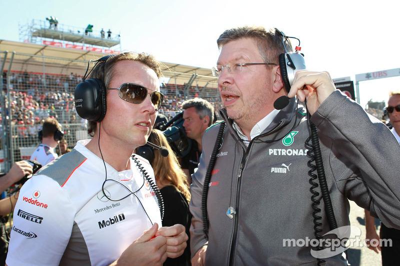 Sam Michael, McLaren met Ron Dennis, McLaren, Team Principal, voorzitter
