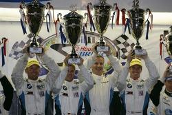 ALMS GTE-Pro podium: first place Joey Hand, Dirk Muller, Jonathan Summerton