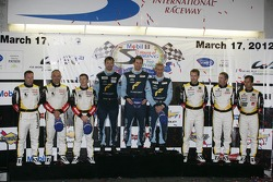 WEC LMGTE-Am podium: first place Christian Ried, Gianluca Roda, Paolo Ruberti, second place Christop