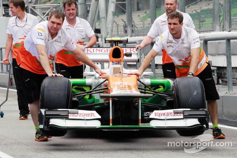 Sahara Force India F1 VJM05 scrutineering