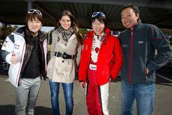Go-kart charity event: Cyndie Allemann, Akira Mizutani, Michael Kim