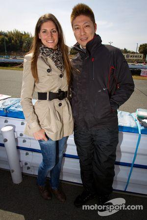 Go-kart charity event: Cyndie Allemann and Akihiro Tsuzuki