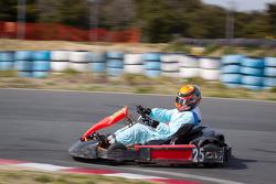 Go-kart charity event: Cyndie Allemann