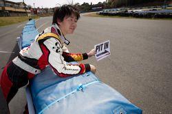 Go-kart charity event: Akira Mizutani