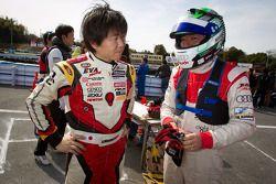 Go-kart charity event: Akira Mizutani and Michael Kim