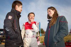 Go-kart charity event: Akihiro Tsuzuki, Michael Kim and Cyndie Allemann