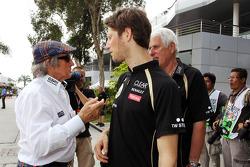 Jackie Stewart, with Romain Grosjean, Lotus F1 Team
