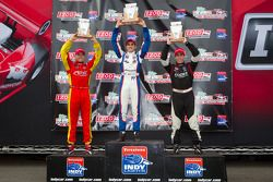 Podium: race winner Tristan Vautier, Sam Schmidt Motorsports, second place Esteban Guerrieri, Sam Sc