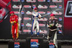 Podium: race winner Tristan Vautier, Sam Schmidt Motorsports, second place Esteban Guerrieri, Sam Schmidt Motorsports, third place Sebastian Saavedra, AFS Racing