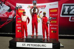 458CS podium: winner #007 Ferrari of Ontario 458CS: Robert Herjavec, second place #31 Ferrari of Ont