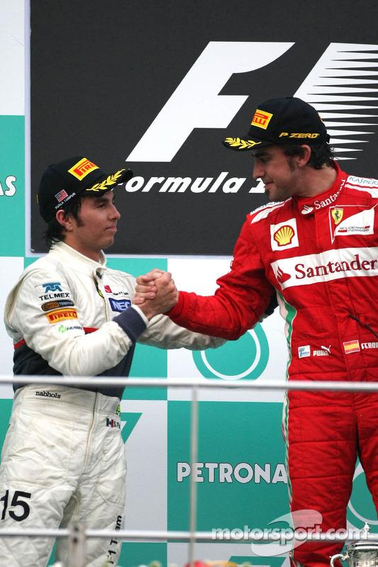 Sergio Pérez y Sauber F1 Team, Fernando Alonso, Scuderia Ferrari
