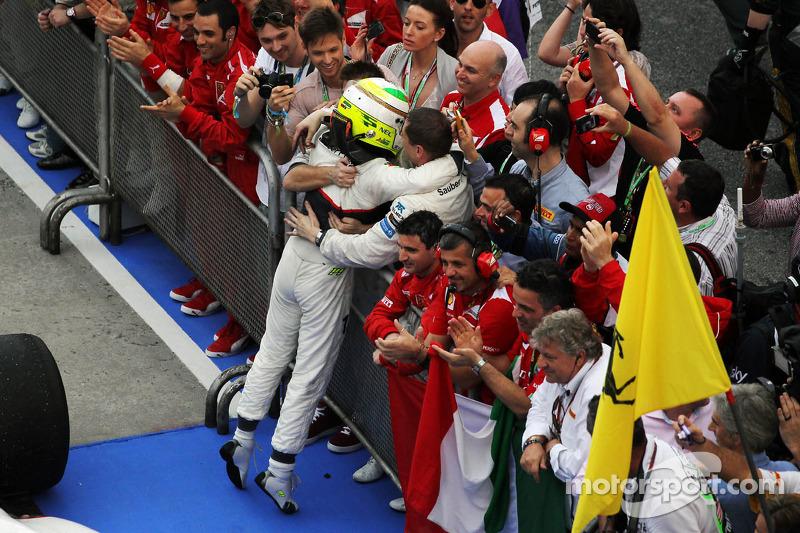 Segundo lugar Sergio Përez, Sauber F1 Team