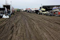 Muddy pits