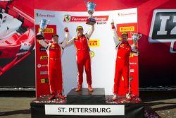 458CS podium: winner #007 Ferrari of Ontario 458CS: Robert Herjavec, second place #91 Ferrari of Ft Lauderdale 458CS: Guy Leclerc, third place #56 Ferrari of Ft Lauderdale 458CS: Jose Valera