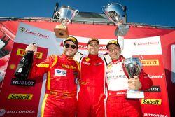 458TP podium: first place #2 Ferrari of Ft Lauderdale 458TP: Alex Popow, second place #24 Ferrari of