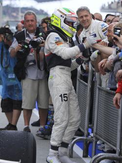 Second place Sergio Perez, Sauber F1 Team