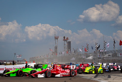 James Hinchcliffe, Andretti Autosport Chevrolet and Scott Dixon, Target Chip Ganassi Racing Honda