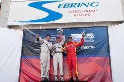 Race #1 L2 klasse Podium: Scott Tucker, Alain Nadal, Alan Wilzig