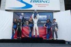 Race #2 L1 klasse Podium: Tristan Nunez, Daniel Goldburg, Mikhail Goikhberg