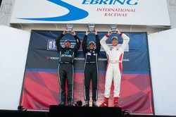 Race# 2 Gold Class Podium: Angel Benitez Jr, David Calvert-Jones, Peter Collins