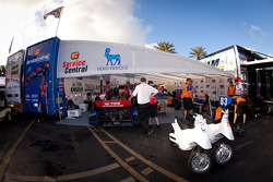 Service Central Chip Ganassi Racing paddock area
