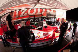 Car of Justin Wilson, Dale Coyne Racing Honda at technical inspection
