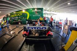 KV Racing Technology paddock area