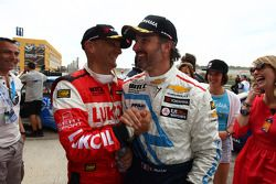 Gabriele Tarquini, SEAT Leon WTCC, Lukoil Racing Team 2nd position and Yvan Muller, Chevrolet Cruze