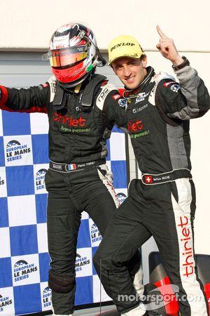 Матиас Беш и Пьер Тирье. Ле-Кастелле, воскресенье, после гонки.