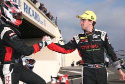 Race winners Mathias Beche and Pierre Thiriet
