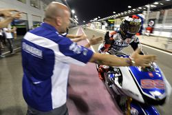 Pole winner Jorge Lorenzo, Yamaha Factory Racing celebrates
