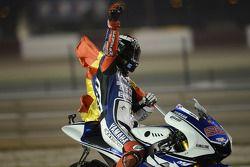 Race winner Jorge Lorenzo, Yamaha Factory Racing celebrates