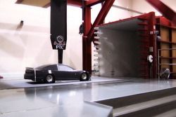 The 2013 Ford Fusion is tested in the wind tunnel
