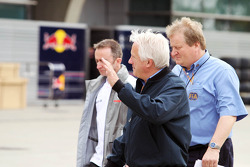 Charlie Whiting, FIA Delegate with Paddy Lowe, McLaren Mercedes Technical Director and Jo Bauer, FIA