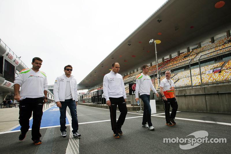 Paul di Resta, Sahara Force India F1 ve Jules Bianchi, Sahara Force India F1 Team Üçüncü Pilotu , pi