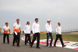 Nico Hulkenberg, Sahara Force India F1 walks the circuit
