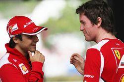 Felipe Massa, Scuderia Ferrari with Rob Smedley, Scuderia Ferrari Race Engineer
