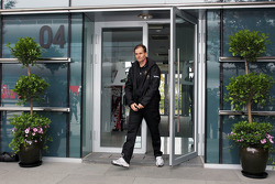 Luis Perez-Sala, HRT Formula One Team, Team Prinicpal leaves a meeting of the teams concerning the upcoming Bahrain GP